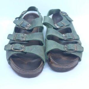 Birkenstock soft forrest green strap sandal 7M